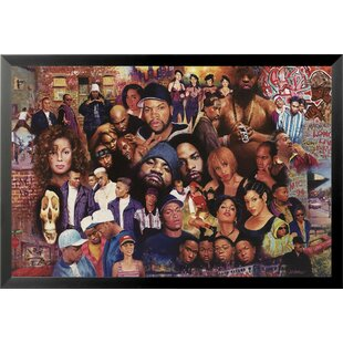 1fc981d44424 Famous Legends of 80 s Rap and Hip Hop Painting Print Framed Poster