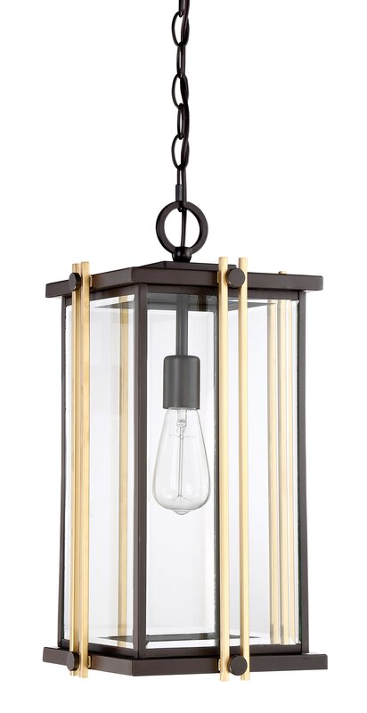 Francois 1 light outdoor hanging lantern reviews allmodern francois 1 light outdoor hanging lantern mozeypictures Gallery