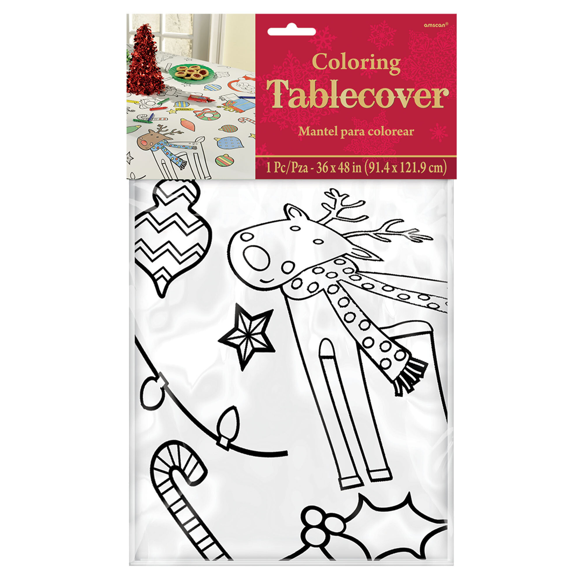 amscan color in christmas rectangular tablecloth wayfair