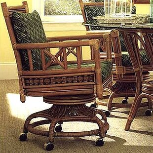 3600 Tahiti Swivel/Tilt Caster Dining Chair by South Sea Rattan
