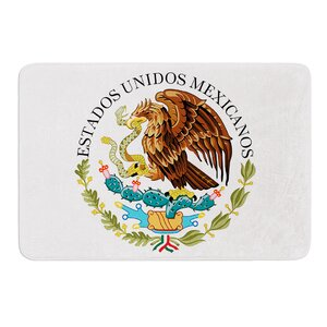 Mexico Emblem by Bruce Stanfield Memory Foam Bath Mat