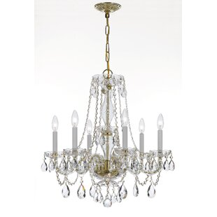 House of Hampton Bragg 6-Light Crystal Ch..