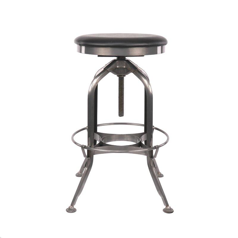 Williston Forge Desrochers Adjustable Height Swivel Bar Stool