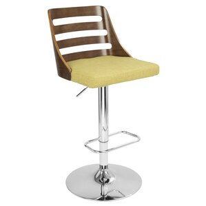Vandergriff Adjustable Height Swivel Bar Stool by Mercury Row