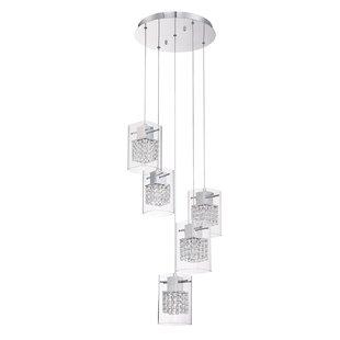 Hoekstra 5-Light Cluster Pendant by Orren Ellis