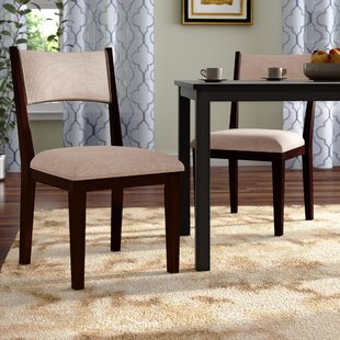 Bathurst Mid-Century Modern Upholstered Dining Chair (Set of 2) Wrought Studio