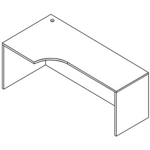 Jusino Left Curve Corner Desk Shell