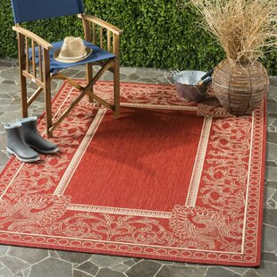 Catori Red/Natural Indoor/Outdoor Area Rug