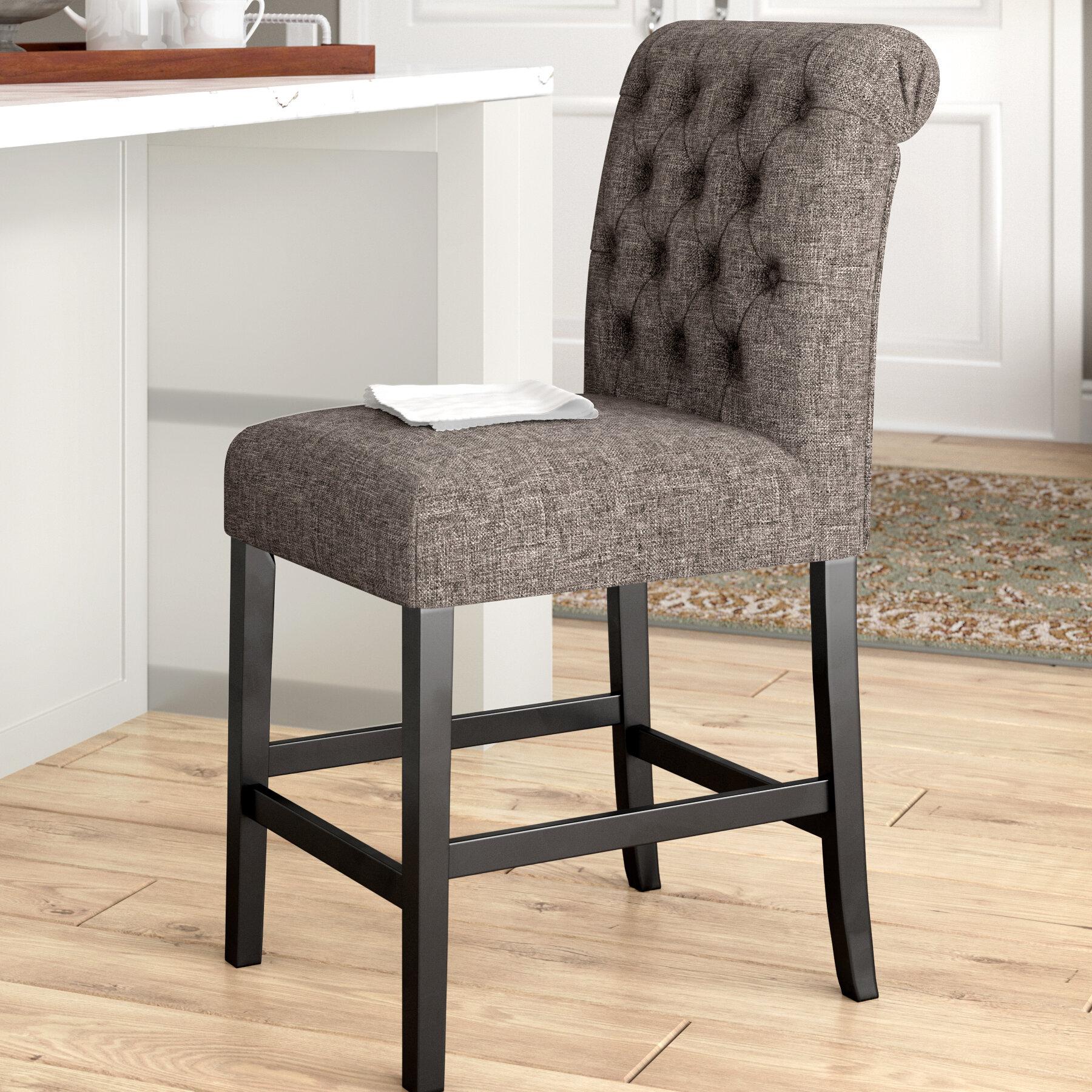 Darby home co urbana upholstered bar stool reviews wayfair
