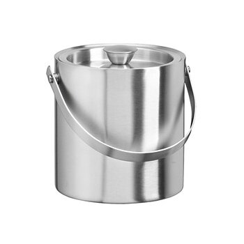 Charlton Home Rickert Stainless Steel 1 5 Qt Doublewall Insulated Ice Bucket Wayfair