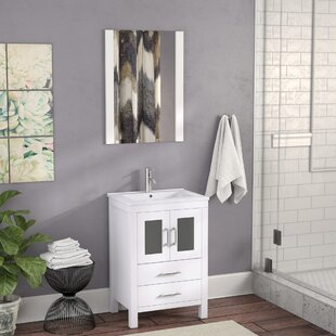 Check Prices Stanardsville 24 Single Bathroom Vanity Set with Ceramic Top and Mirror By Brayden Studio