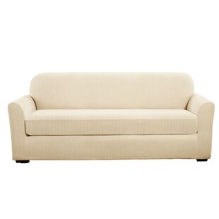 Sure Fit Stretch Pinstripe Box Cushion Sofa Slipcover