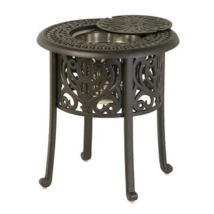 Merlyn Round Ice Bucket Aluminum Chat Table by Fleur De Lis Living Bargain