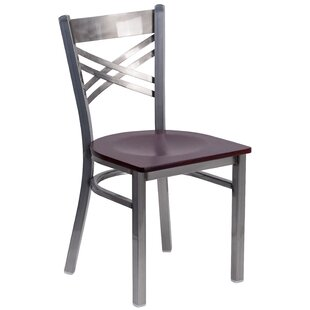 MacArthur Coated ''X'' Back Metal Restaurant Side Chair