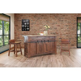 Coralie Kitchen Island Set Gracie Oaks