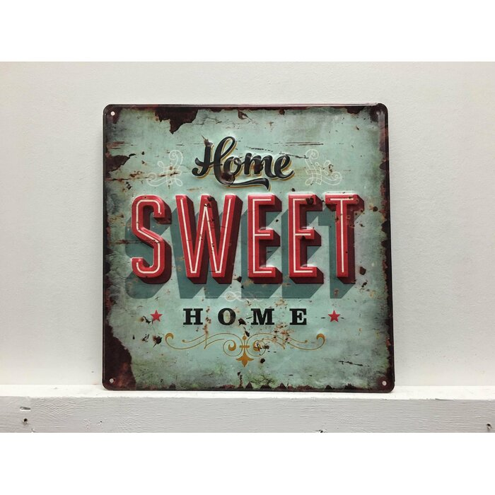 Home Sweet Vintage Metal Wall Décor