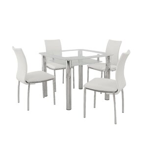 Figueroa 5 Piece Breakfast Nook Dining Set