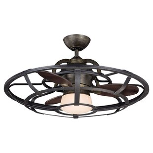Ceiling fans youll love wayfair 26 wilburton 3 blade outdoor ceiling fan with remote aloadofball Choice Image
