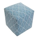 Cote D'azur 19 Square Geometric Cube Ottoman by Imagine Home
