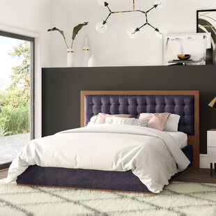 Criss Upholstered Panel Bed by Mercury Row