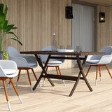 Copher Folding Wicker Dining Table