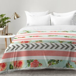 East Urban Home Floral Stripes and Arrows Comforter Set