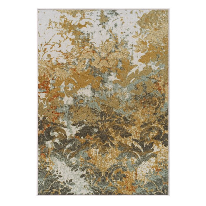 Riemann White Brown Area Rug