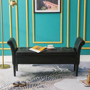 Newsbury Faux Leather Flip Top Storage Bench by Red Barrel Studio