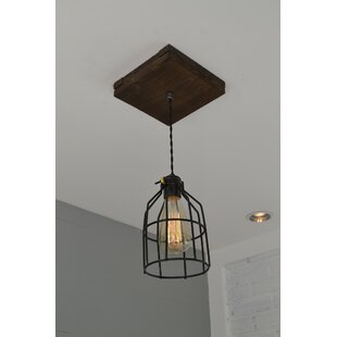 Comparison Single Wood 1-Light Foyer Pendant By West Ninth Vintage