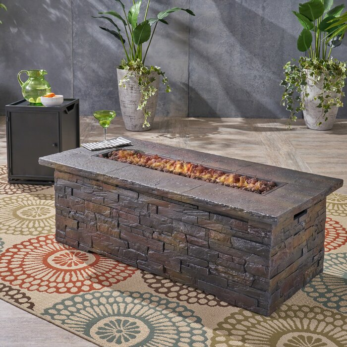 Outdoor Propane Fire Pit.Ritchie Outdoor Concrete Propane Fire Pit
