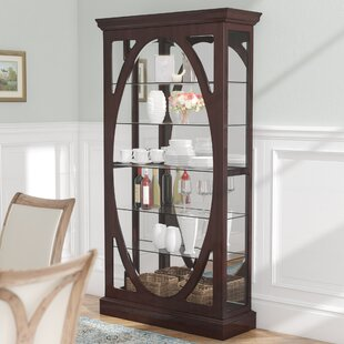 Three Posts Olive Solid Wall Mounted Curio Cabinet