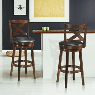 Compare prices Woosley 29 Swivel Bar Stool (Set of 2) by Red Barrel Studio Reviews (2019) & Buyer's Guide