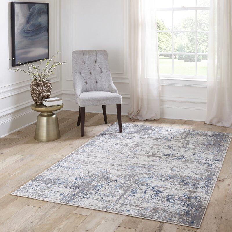 Charlton Home Hoagland Blue Area Rug Reviews Wayfair