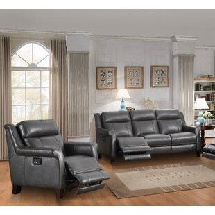 Red Barrel Studio Kale Reclining 2 Piece Leather Living Room Set