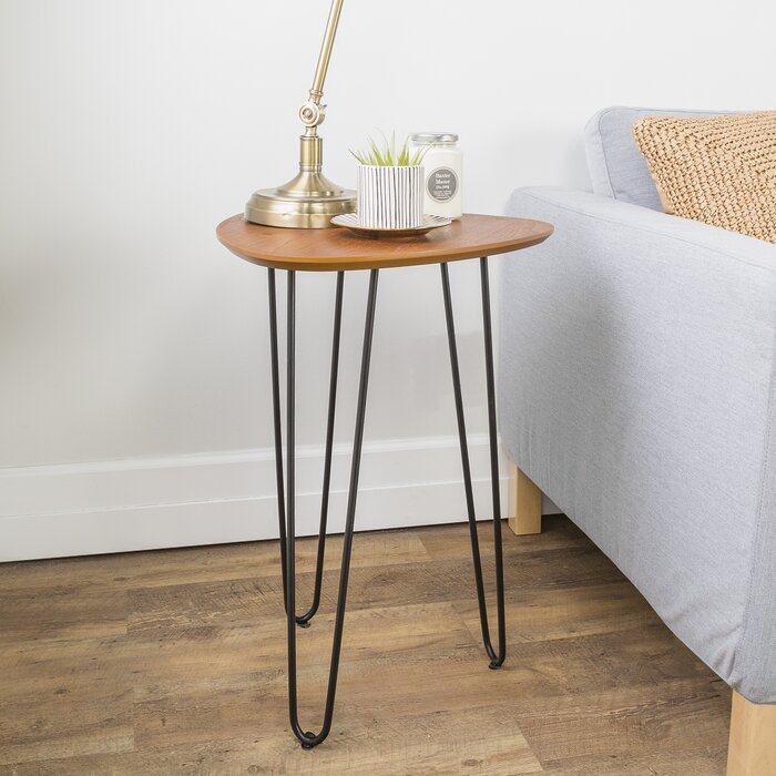 huge discount 186a3 92399 Liliana Hairpin Leg Wood Side Table