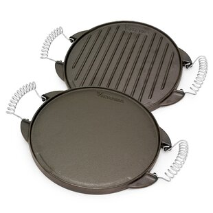 Preseasoned Cast Iron Reversible Griddle