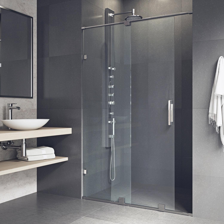Vigo Ryland 60 X 7275 Single Sliding Frameless Shower Door