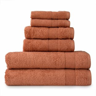 Dicus 6 Piece Turkish Cotton Towel Set By Charlton Home