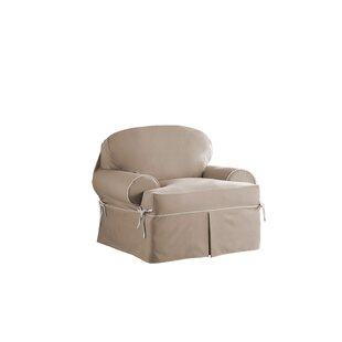Red Barrel Studio Relaxed Fit Twill T-Cushion 3 Piece Slipcover Set