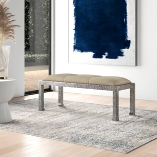 Kathie Upholstered Bench by Everly Quinn