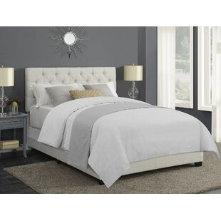 Morales Crystal Button Tuft Upholstered Panel Bed