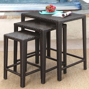 Look for Arruda 3 Piece Wicker Side Table Set Price & Reviews