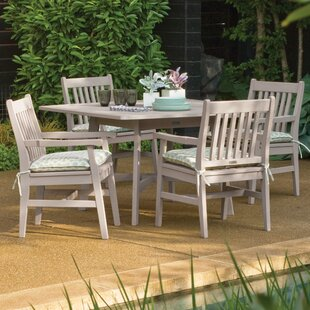 Laney 5 Piece Wood Dining Set by Breakwater Bay