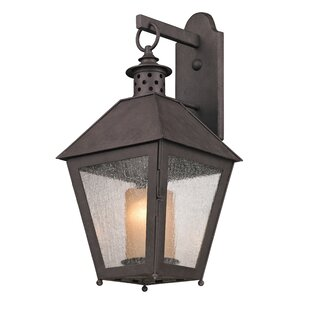 Price comparison Dinerstein 1-Light Centennial Rust Outdoor Wall Lantern By Longshore Tides