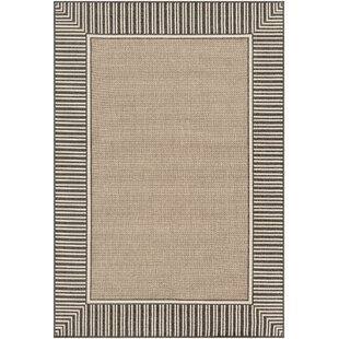 Top Reviews Oliver Camel/Black Area Rug By Bay Isle Home
