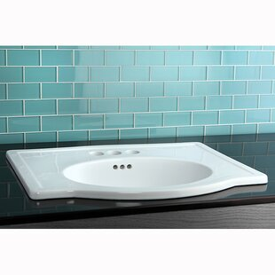 Clearance Londonville Ceramic Rectangular Drop-In Bathroom Sink with Overflow By Kingston Brass