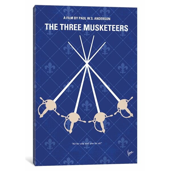 East Urban Home The Three Musketeers Graphic Art Print On Canvas Wayfair