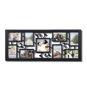 9 Opening Decorative Filigree Wall Hanging Collage Picture Frame