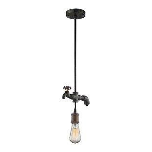 Bargain Aguiar 1-Light Bulb Pendant By 17 Stories