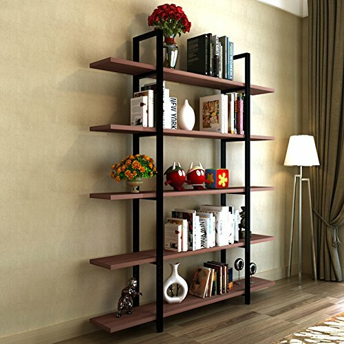 bookshelf hand brown modern tiered off three storage second dark
